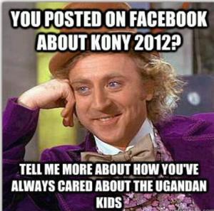 Kony 2012 meme facebook wonka