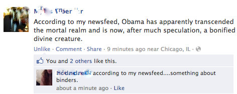 facebook screen cap 2012 elections