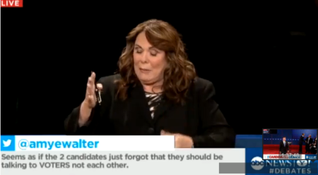 ABC twitter feed screen cap live debate coverage