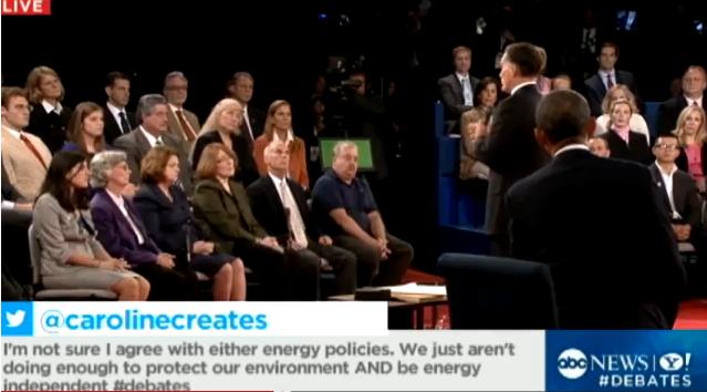 2012 debates ABC coverage twitter live tweets