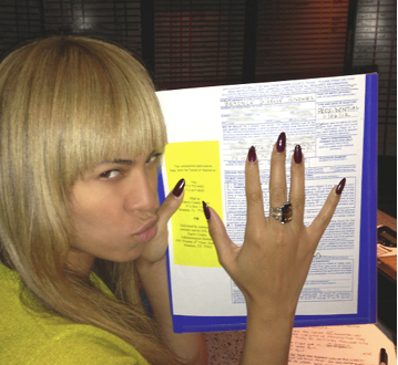 Beyonce poses with her ballot