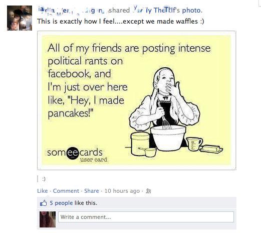 facebook screen cap election 2012
