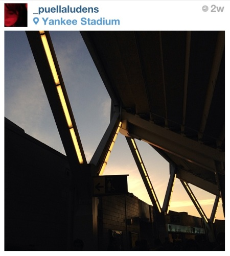 Here and Now at Yankee Stadium. http://instagram.com/_puellaludens/